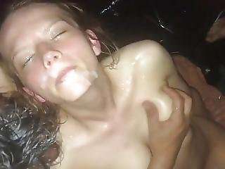 Amateur Gangbang Facial With Real 18 Years Old Girl