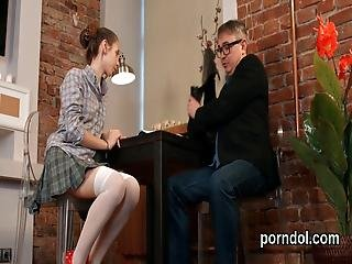 Lovely Schoolgirl Was Seduced And Pounded By Her Elderly Teacher
