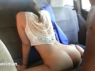 Public Play And Hot Car Fuck With Young Interracial Couple