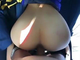 Cheating Slut Moves Her Stunning Ass All Over My Huge Creamy Cock
