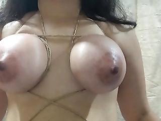 amatør, babe, stort bryst, bondage, brunette, fetish, indisk, bundet, stram