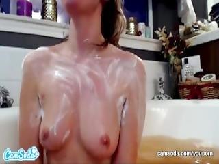 Camsoda Tori Black Bathtub Body Rub