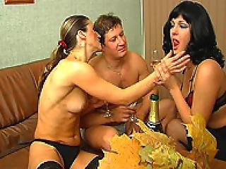 Angela Hot Wife And Her Gilfriend In Threesome Fucking With Husband