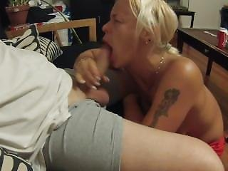 Blowing A Strangers Cock For A Birthday Gift To Myself And Licking The Cum