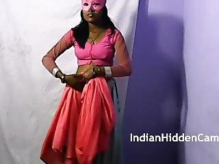 Indian Teen Girl Radha Rani With Mask Getting Seduced By Her Lover