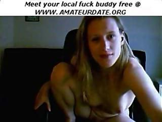 Blonde Teen Amateur Webcam Babe Solo Masturbation Till Orgasm Homemade