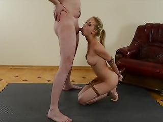 Natalia Andreeva Sucks A Member With The Hands Tied Behind Her Back