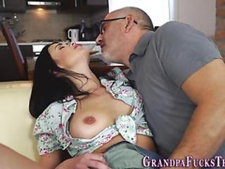 Latina Teen Tugs Old Perv