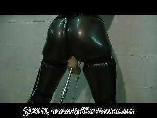 Latex Gasmask Chained And Fucked
