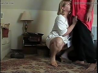 Mature Couple Cheating In Livingroom