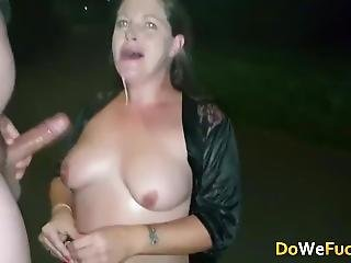 Real Uk Whore Make Rough Deepthroat Blowjob And Swallow