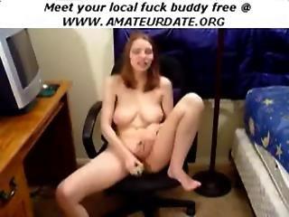 Amateur Webcam Brunette Teen Babe Solo Dildo Vibrator Webcam Homemade
