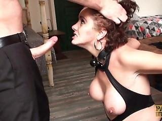 Redhead Milf Lizzy Lovers Cuffed & Stuffed Hard In The Ass
