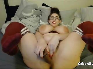 Very Sexy Chubby Nerd Girls Masturbation
