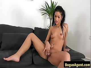Euro Amateur Sucking Agent Dick After Fucking