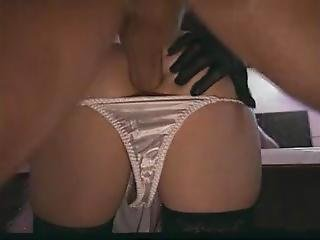 Classic Peter North - Cum On Satin Panty Ass