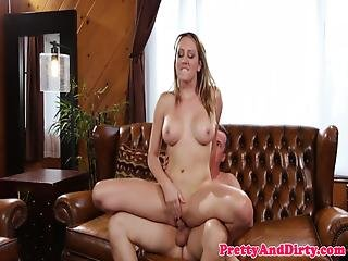 Cheating Guy Doggy Styles Gf Mom On Couch