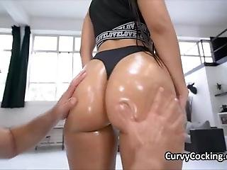 Pawg Latina Bombshell Oiled And Fucked