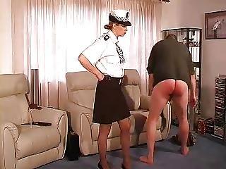 Bdsm, Femdom, オフィス, 警察, 罰する, スパンキング