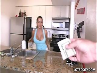 Big Ass And Big Tit Latina Maid Takes Dick