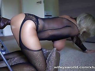 Wifey Gets Off Fantasizing About Big Black Cocks