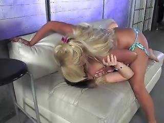 Big Breasted Milf One Sided Catfight Ending With A Breast Smother