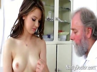 Old Doc Does Petite Teen Girl