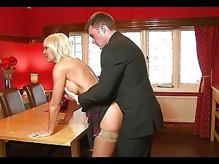 Stunning Blonde Milf Fuck On The Table