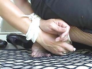 bondage, policjant, sukienka