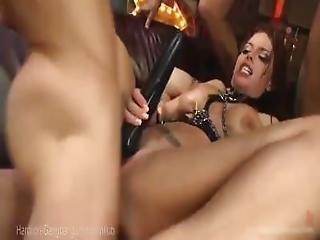 anal, blasen, brünette, vollbusig, ladung, doggystyle, ins gesicht, gangbang, sexy, vibrator