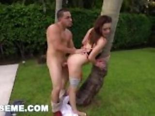ABUSEME - Boyfriend ties teen Kylie Quinn up and treats her like a WHORE!