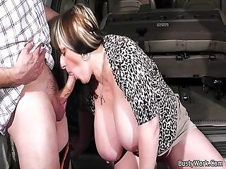 Boss Fucks Big Titted Worker