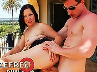 Hitzefrei German Babe Ashley Dark Fucked On The Balcony