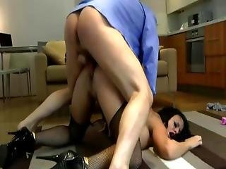 Old Guy Gets Fucking Hard Down On  Amateur Slut On The Floor