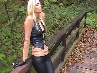 Nelly 1_ Blonde Smoking In Leather Pants