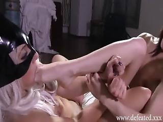Df020-hard Footgag Orgasm Match- Italian Catfight Fetish