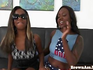Black Teens Spank Each Others Bigass