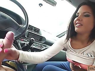 Kinky Teen Apolonia Sucks Off And Gets Fucked In The Car