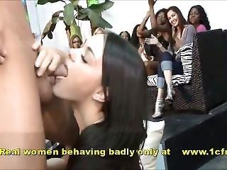 Real Filmed Footage Of Nasty Girls Sucking On Stripper Dudes Schlongs