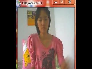 Thai Student On Webcam