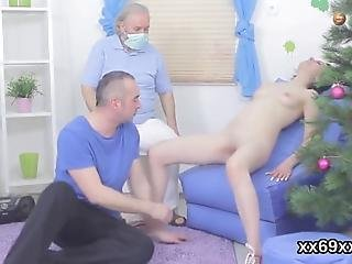 Physician Helps To Check On A Virgin Teen And Assists With Hymen Examination And Losing Virginity Or First Time Hardcore Fucking