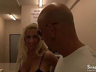 Blonde Embeds Huge Cock In Her Pussy