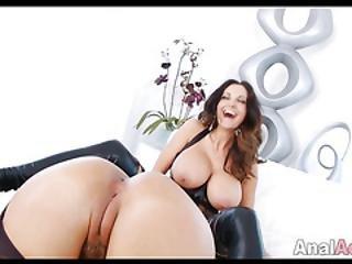 Big Tit Lesbians Fuck Around With Huge Dildo