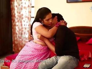 Hot Desi Shortfilm 73 - Boobs Pressed & Squeezed In Pink Blouse, Smooches