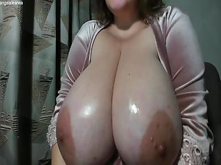 Amateur Natürliche große Titten