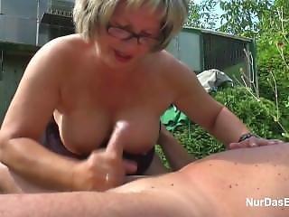 German From Adultlovedating.com Grandpa And Grandma Fuck Hard In Garden