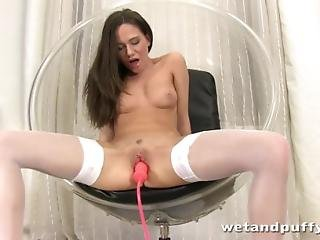 Subil Arch Stretches Her Pussy For An Inflatable Toy