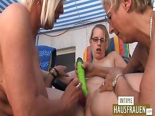 Dildo Games On The Roof Terrace