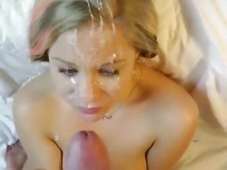 Huge Facial From Daddy For Naughty Blond Teen Badgurlxx From Fuck2nite.com