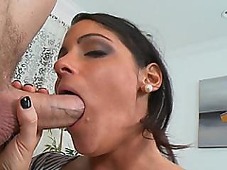 Dark Haired Milf Michele Banged In Doggy Style